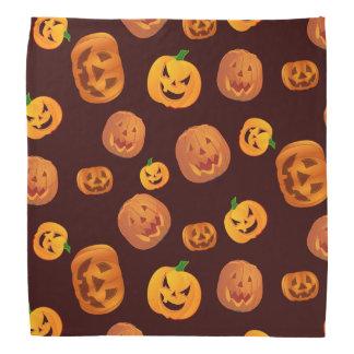 Halloween Jack-O-Lantern Pumpkin Pattern Bandana