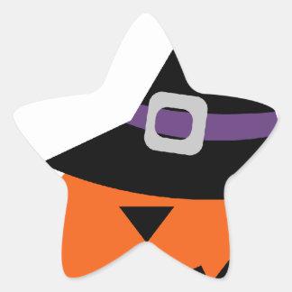 Halloween Jack O Lantern Pumpkins Faces Star Stickers