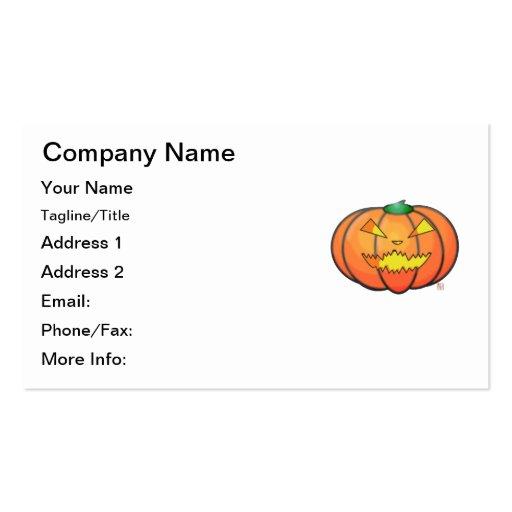 Halloween Jack O' Lantern Sinister Grin Pumpkin Business Cards