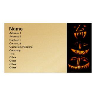 Halloween Jack O Lantern Totem Pole Pack Of Standard Business Cards