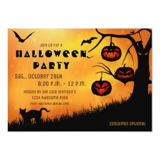 Halloween Jack 'o lantern Tree Invitation