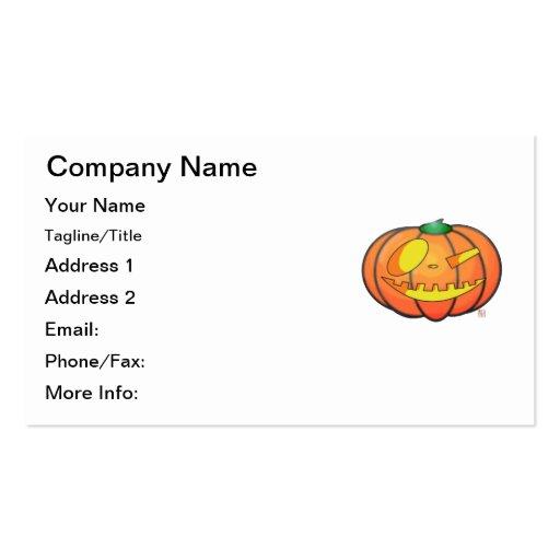 Halloween Jack O' Lantern Winking Pumpkin Business Card
