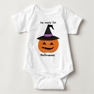 Halloween jack o lantern with witch hat shirt