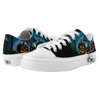 Halloween Jack O Lanterns Low Tops