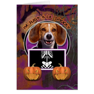 Halloween - Just a Lil Spooky - Beagle Card