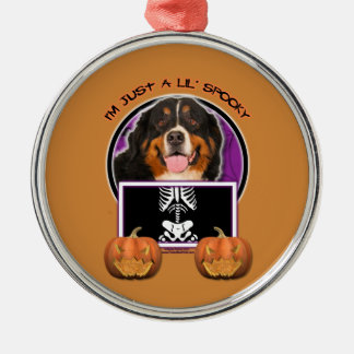 Halloween -Just a Lil Spooky -Bernese Mountain Dog Christmas Ornament