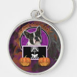 Halloween - Just a Lil Spooky - Boston Terrier Key Chains
