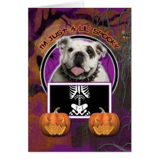 Halloween - Just a Lil Spooky - Bulldog Card