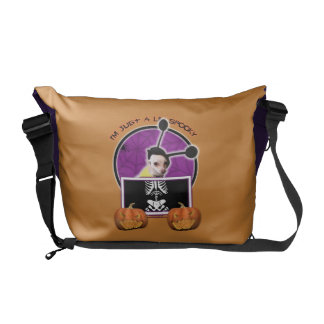 Halloween - Just a Lil Spooky - Cheagle - Izzy Messenger Bag