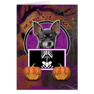 Halloween - Just a Lil Spooky - Chihuahua Isabella Card