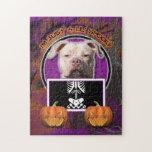 Halloween - Just a Lil Spooky - Pitbull JerseyGirl Jigsaw Puzzle