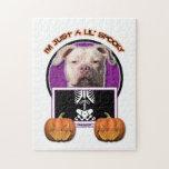Halloween - Just a Lil Spooky - Pitbull JerseyGirl Jigsaw Puzzles