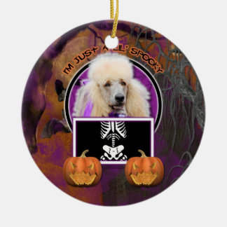 Halloween - Just a Lil Spooky - Poodle - Champagne Christmas Ornament