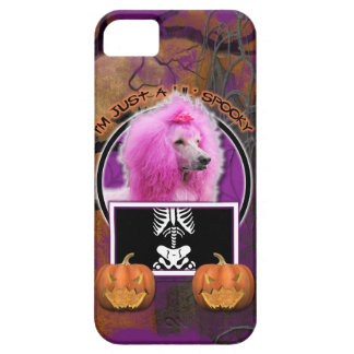 Halloween - Just a Lil Spooky - Poodle - Pink iPhone 5 Cover