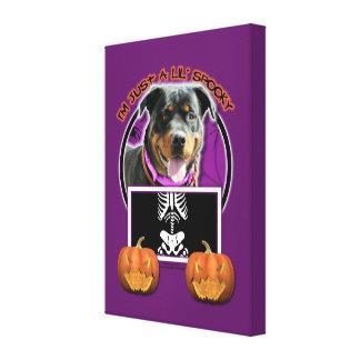 Halloween - Just a Lil Spooky - Rottie - SambaParT Stretched Canvas Prints