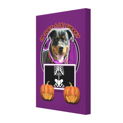 Halloween - Just a Lil Spooky - Rottie - SambaParT Stretched Canvas Prints