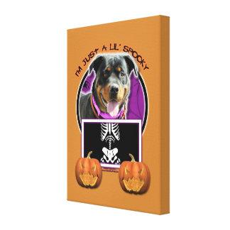 Halloween - Just a Lil Spooky - Rottie - SambaParT Canvas Print