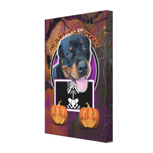 Halloween - Just a Lil Spooky - Rottweiler Canvas Print