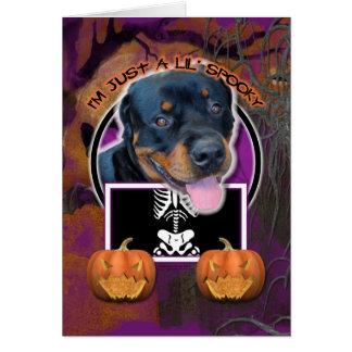 Halloween - Just a Lil Spooky - Rottweiler Card