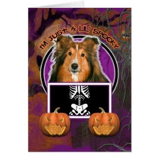 Halloween - Just a Lil Spooky - Sheltie Card