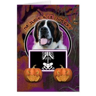 Halloween - Just a Lil Spooky - St Bernard - Mae Card