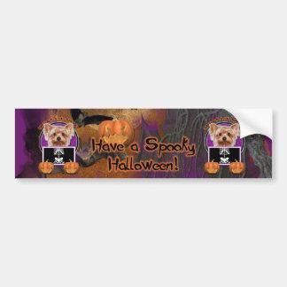 Halloween - Just a Lil Spooky - Yorkie Bumper Sticker