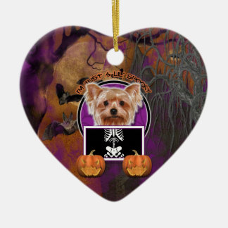 Halloween - Just a Lil Spooky - Yorkie Christmas Ornament