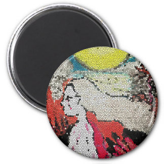 Halloween Kids Abstract Arts 6 Cm Round Magnet