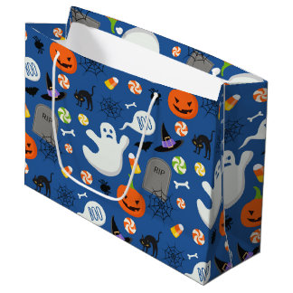 Halloween Kids Design 2 Large Gift Bag