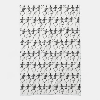 Halloween Kitchen Towel-Dancing Skeletons Tea Towel