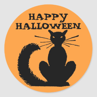 Halloween Kitty Round Sticker