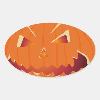 Halloween Kürbis Oval Sticker