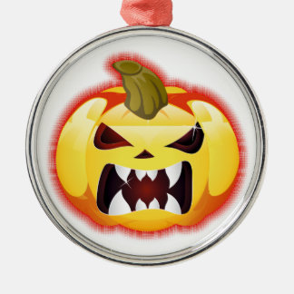 Halloween Kürbis pumpkin Silver-Colored Round Decoration