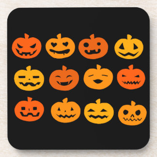 Halloween Kürbis sample Drink Coasters