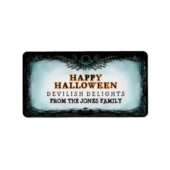 Halloween Label Happy Halloween - Treats Label Address