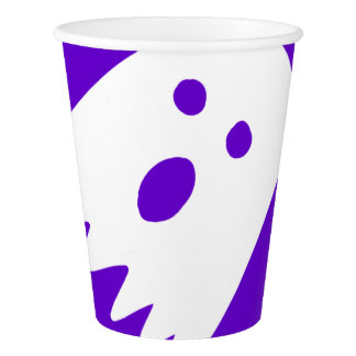 halloween large ghosts paper cup purple