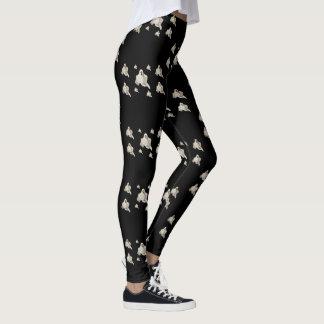 Halloween Leggings with Ghost pattern