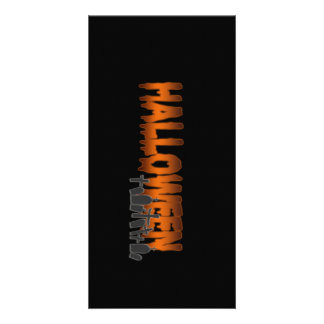 Halloween lettering tombs custom photo card