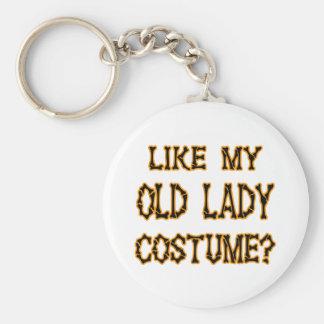 Halloween -like my old lady  costume key chain