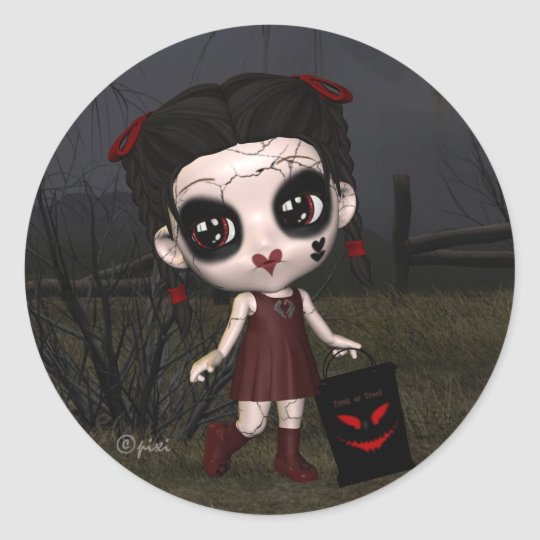 Halloween Lil Trick or Treater Stickers