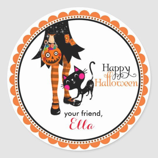 Halloween Little Witch goodie bag favour stickers