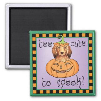 Halloween Longhaired Dachshund Fridge Magnet