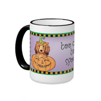 Halloween Longhaired Dachshund Coffee Mug
