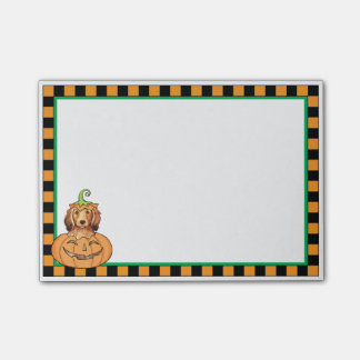 Halloween Longhaired Dachshund Sticky Note