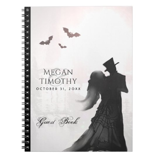 Halloween Lovers Silhouette Matching Guest Book