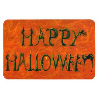 """Halloween Magnet """"Happy Halloween"""" figural sign"""