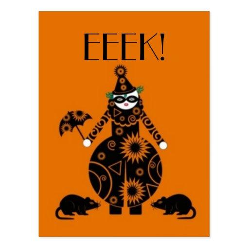 Halloween Martzkin Clown Postcard