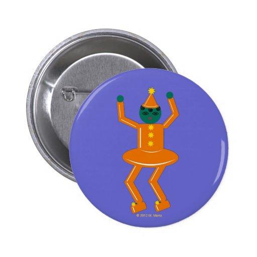 Halloween Martzkin Girl Gobin Button