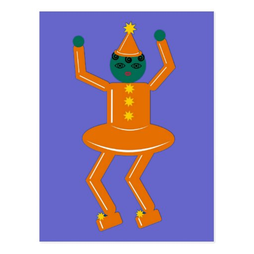 Halloween Martzkin Goblin Girl Postcard
