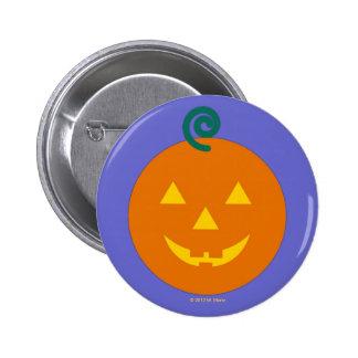 Halloween Martzkin Grinning Jack-O-Lantern Button